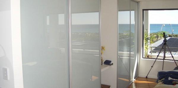 White Glass Wardrobe Doors